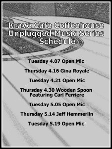Coffeehouse Schedule